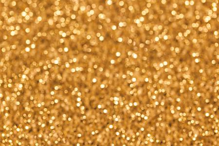golden defocused lights background. abstract Bokeh golden lights photo