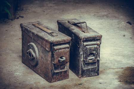 old metal: Old grunge rusty iron boxes