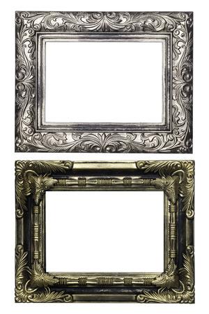 cadre antique: ensemble de cadre antique isol� sur fond blanc