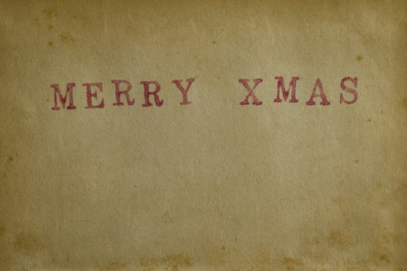 merry xmas: Paper texture background with word Merry Xmas Stock Photo