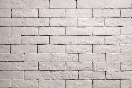 bricks background: Vintage white bricks wall background Stock Photo