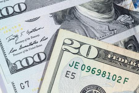 dollar: Le banconote in dollari per il concetto di business e della finanza