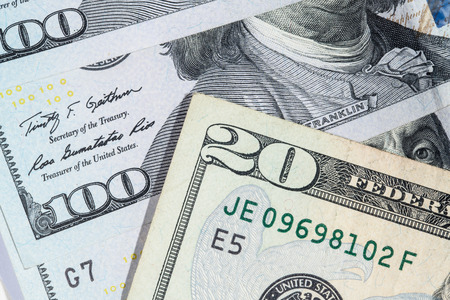 stack of dollar bill: The dollar banknotes for business and finance concept