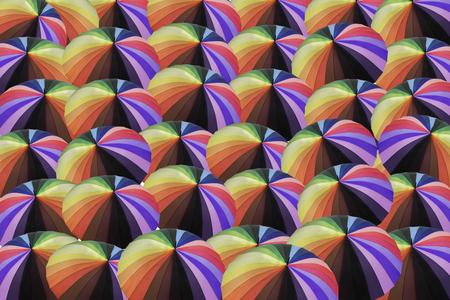 rainbow umbrella: Multicolors, rainbow umbrella background