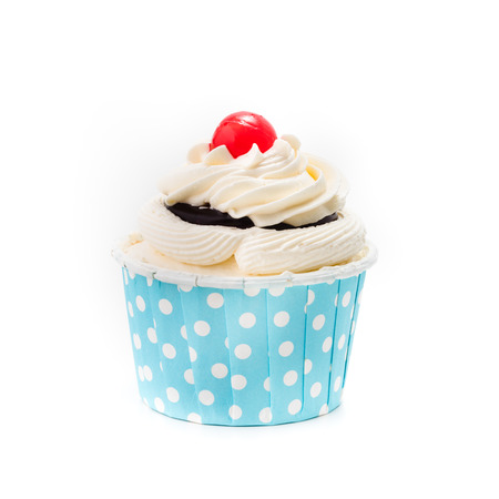 cup cake isolated on white background Stock Photo