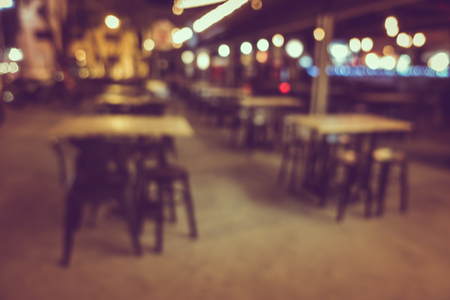 restuarant: Blur or Defocus image of Coffee Shop, restuarant or Cafeteria at night for use as Background