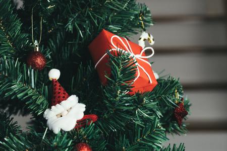 Christmas tree decoration background Imagens
