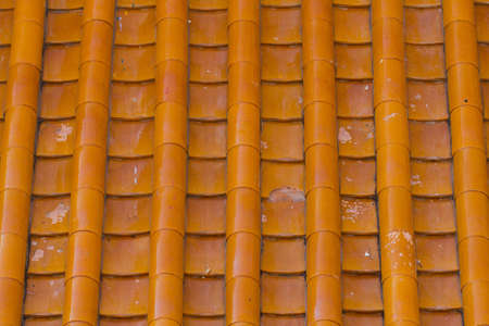 Orange ceramic roof photo