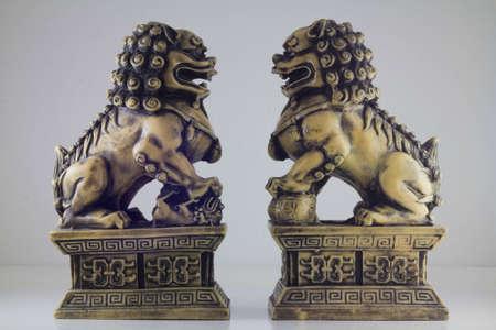 stone lion: Lion statue (double side)