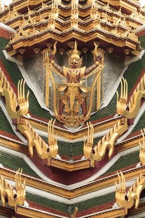 Garuda on the Palace roof,Bangkok,Thailand. photo