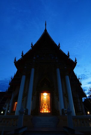 Wat Lum in the evening in Rayong , Thailand. photo