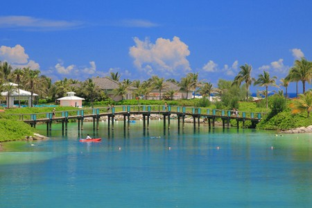 Atlantis Hotel on Paradise Island in Nassau,Bahamas. Standard-Bild