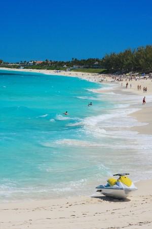 Jetski on Paradise Island beach of Atlandtis , Nassau, Bahamas. photo