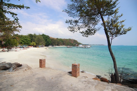 Great Rayong beach in day time , East of Thailand photo