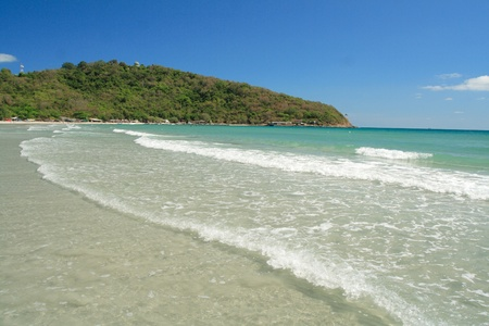 Große Rayong Strand in Tageszeit, East Of Thailand Standard-Bild - 9018857