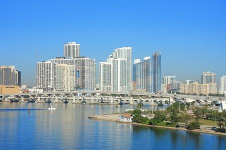 Yacht navire sur la mer à Miami, Floride, USA.