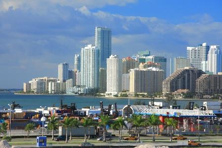 urban life: La vida urbana en la ciudad de Miami, Florida, EE.UU.. Foto de archivo