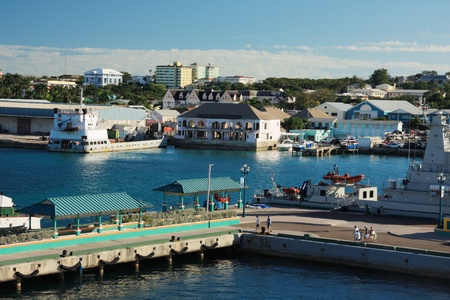 Bahamas pier landscape in Nassau city , Caribbean photo