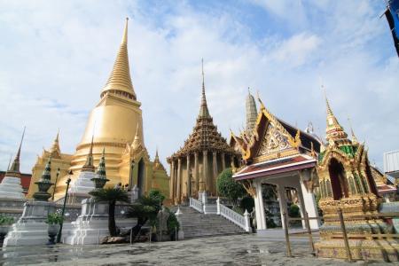 bangkok landmark: the royal grand palace in bangkok, Thailand.