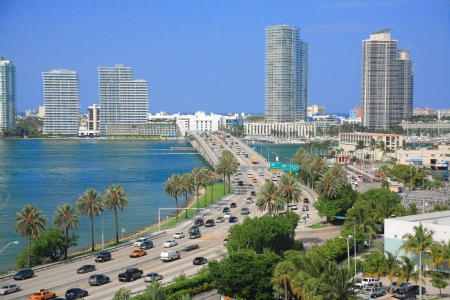 Miami town in day time ,Florida , USA.