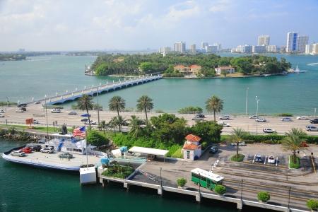 Miami town in day time ,Florida , USA. photo
