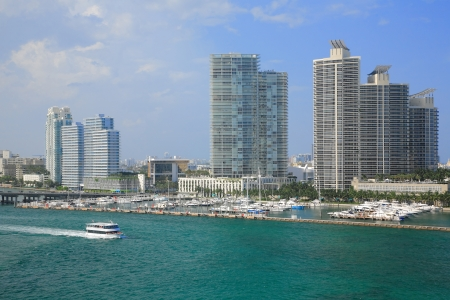 Miami town in day time ,Florida , USA. photo