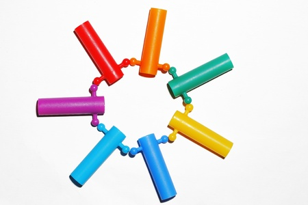 Color full toy on white background. Stock Photo - 19079530