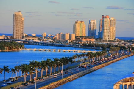 day time: miami city scape in day time ,forida USA