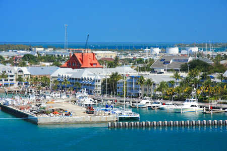 llave de sol: D�as de vacaciones en Cayo Hueso, con la nave de gracia. Foto de archivo