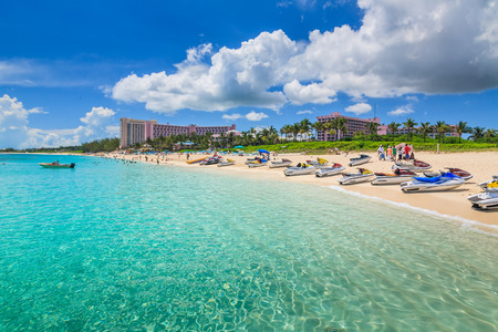 Atlantis hotel on Paradise Island in Nassau, Bahamas.