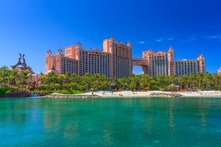 Atlantis hotel on Paradise Island in Nassau, Bahamas.