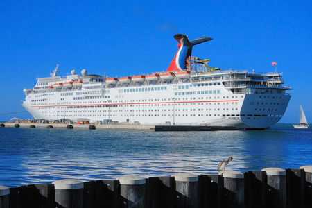 Vacation day in Key west , with funny ship . photo