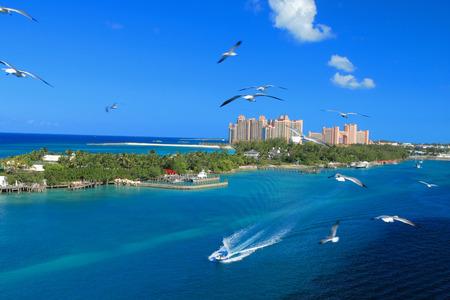 atlantis: Atlantis hotel on Paradise Island in Nassau, Bahamas.