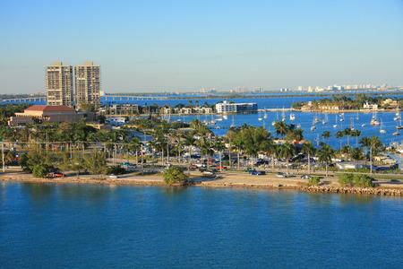 Bahamas pier landscape in Nassau city , Caribbean photo