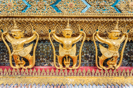 garuda: Garuda statue image in a very beautiful motifs.