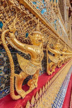 Garuda statue image in a very beautiful motifs.