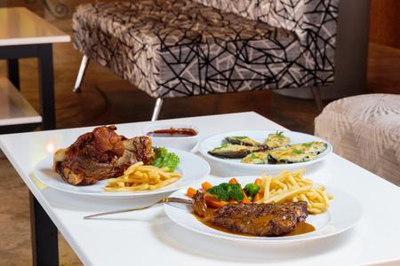 palatable: European style food looks very palatable. Stock Photo