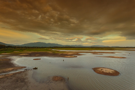 View the beautiful natural reservoir Stock Photo