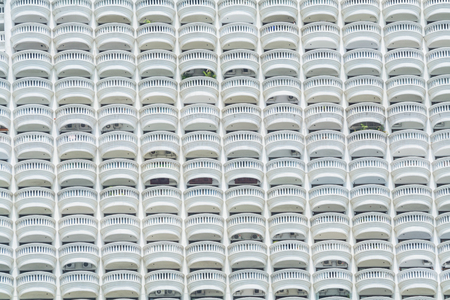 knoll: Buildings arranged in a pattern on a knoll. Stock Photo