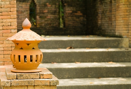 Lamp and staircase Stock Photo