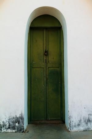 Spooky Door Stock Photo