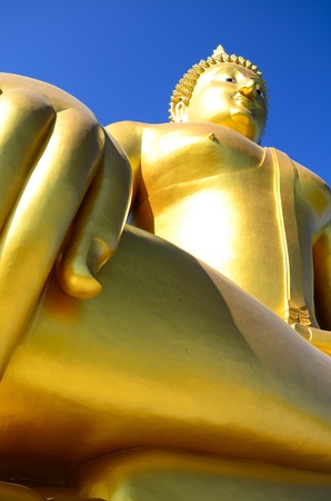 Golden budda in thai Stock Photo - 11914528