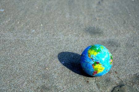 world on sand