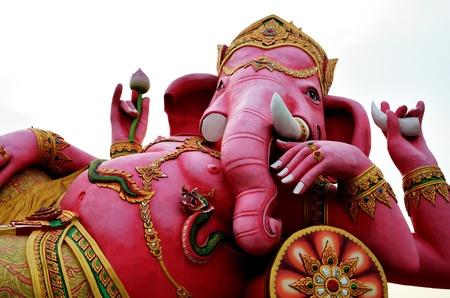 popular belief: Ganesha sitting Stock Photo