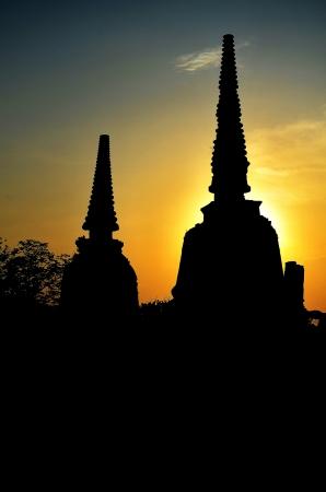 Sunset behind the Stupa