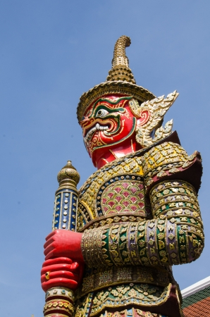 dazzlingly: Colorful giant statue Stock Photo