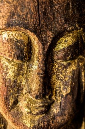 godhead: Stucco of smile Buddha face Stock Photo