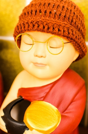 Little peaceful novice monk Stock Photo