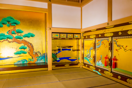 Gorgeous room in the Honmaru palace of Nagoya-jo castle