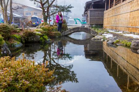 Entrance to Historical village of Shirakawa-go